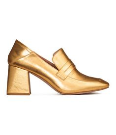 Loafer mit Blockabsatz | Goldfarben | Damen | H&M DE