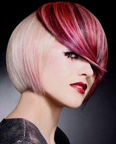 Stylish Geometric Classic Bob Hairstyle
