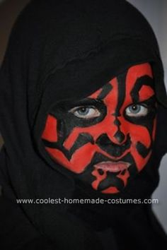 Homemade Darth Maul Costume: Last year I made my son a Star Wars homemade Darth Maul costume and it cost me nothing. People of all ages (even those who were wearing store bought Darth