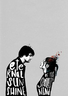 "Film Posters - Peter Strain Illustration    Done for ""Eternal Sunshine of a Spotless Mind""    -peterstrain.co.uk"