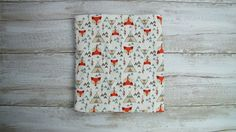 Baby swaddle blanket. Baby cotton blanket.  Foxes swaddle.