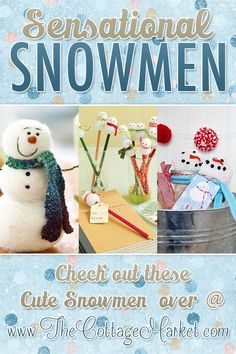 Sensational Snowman Crafts for the Holidays - love the pencil toppers!