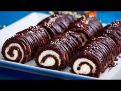Chocolate, Doughnut, Sausage, Bakery, Brunch, Food And Drink, Sweets, Tv, Yule Log