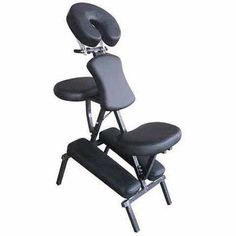 Sivan Health and Fitness Portable Massage Chair with Carrying Case, Black