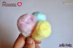 diy tutorial como hacer algodón de azúcar miniatura pullip doll blythe barbie candy how to
