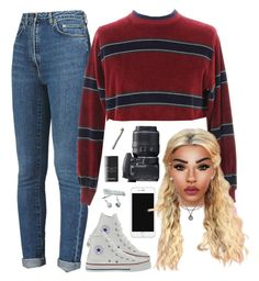 """""""casual w the face beat"""" by demirese ❤ liked on Polyvore featuring Yves Saint Laurent, Auriya, Bottega Veneta, Nikon, Converse and Chanel"""