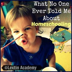 Lextin Academy of Classical Education: What No One Ever Told Me About Homeschooling