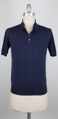 New Borrelli Navy Blue Polo Medium Made In:. Fabric Type:. Retail Price: $375.00.  #Borrelli #Apparel