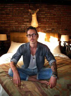 i love this photo of brandon taken by my friend julian castaldi! ladies... this was indeed taken in brandon's room!