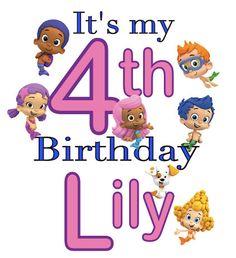 Bubble guppies birthday shirt - its my 4th birthday shirt - girls