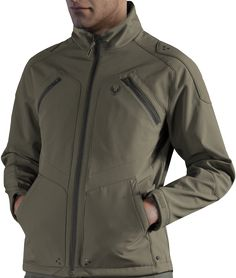 The Spartan Softshell Jacket conglomerates comfortable wear with an extraordinary Halo design. The style and look is inspired by Master Chief's MJOLNIR armour. Design stitches and pockets have been arranged in a form that recreates the look of the chest-a New Outfits, Stylish Outfits, Cool Outfits, Halo Collection, Military Looks, Sharp Dressed Man, Brown Jacket, Future Fashion, Softshell