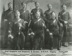 Take a look at this 119 year old photo taken of E Division of the North West Mounted Police in Calgary, Alberta