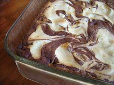 Easy Cream Cheese Brownies, these were incredible! I used Betty Crocker Dark Chocolate Brownies as the base.