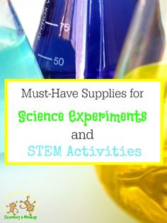 Interested in STEM activities for kids? These must-have supplies for science experiments and STEM activities will keep your STEM learning going year-round!