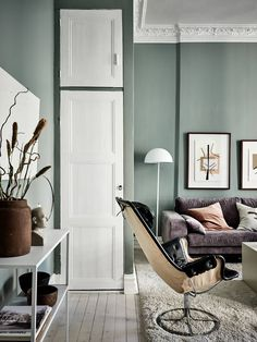 Home in green and grey - COCO LAPINE DESIGNCOCO LAPINE DESIGN
