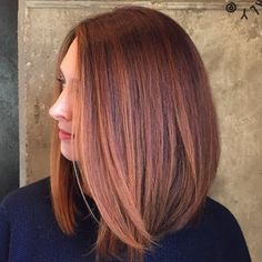 Exude sophistication with a sultry and sleek copper red mane. See the hair products and tutorial for inspiration to replicate this 'do.