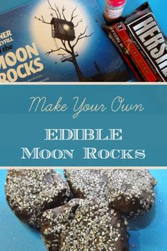 Make edible moon rock and the perfect book to accompany the activity - Tanner Turbeyfill and the Moon Rocks.