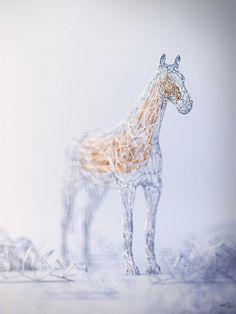Elegant Wireframe Animal Renderings By D Artist Mat Szulik - Fascinating 3d renderings of people and animals by maxim shkret