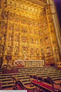 Pierre Dancart's elborate altar, Seville Cathedral, Seville, Spain