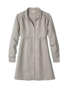 Herringbone Linen Tunic Shirt