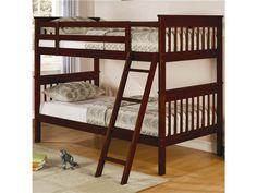 Twin Bunk Bed in White or Black