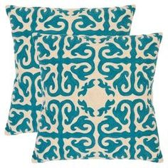 Teal Decor, Teal Design Ideas, Teal Accessories, How to Pair Teal, Teal Accents, Joss  Main throw pillows