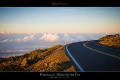The Winding Road to the Top of Haleakala - Maui Hawaii Posters Series - A breathtaking view of the sky at sunrise on the road to the top of the Haleakala Volcano. Maui, Hawaii.