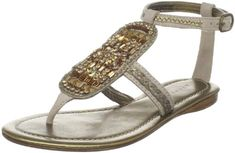 Apepazza Womens Canarie SandalSand395 EU95 M US -- Click image to review more details.