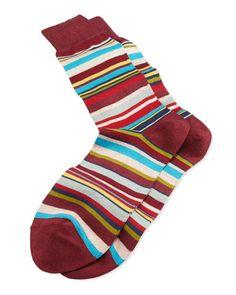 Men's striped briefs and #socks by PaulSmith Fancy Stripe Socks, #Burgundy