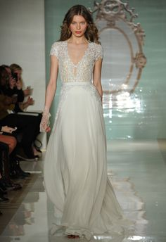 Gorgeous Wedding Dresses With Sleeves - Wedding Gowns With Short Sleeve and Long Sleeve Details - Cosmopolitan Lace Wedding Dress With Sleeves, Stunning Wedding Dresses, 2015 Wedding Dresses, Bridal Dresses, Beautiful Dresses, Wedding Gowns, Dresses With Sleeves, Reem Acra Wedding Dress, Reem Acra Bridal