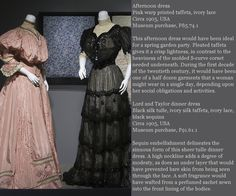 1905 afternoon and dinner dress. The Museum at FIT