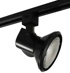 Juno Lighting T231BL Trac-Master Close-Up Line Voltage PAR30 Enclosed Lampholder, Black Juno Lighting Group