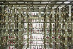 Architizer Blog » Top 10: Mind-Blowing Libraries; Biblioteca Vasconcelos (Inside)  Mexico City, Mexico  Designed by Alberto Kalach