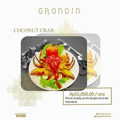 Out Coconut Crab special dishes of Ternate North Maluku. Find it at Grandin restaurant.  #DHM #GrandDafam #grandin #Ternate #GDBT #Bela #KieRaha #NorthMaluku #MalukuUtara #kepiting #crab