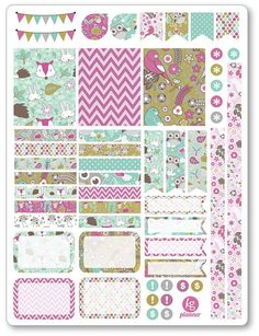 Enchanted Forest Decorating Kit / Weekly Spread Planner Stickers for Erin Condren Planner, Filofax, Plum Paper