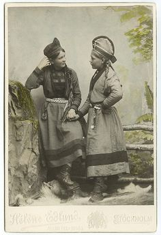 Two Sami women 1890- 1899, Sweden. Read more about Sami women at http://www.utexas.edu/courses/sami/dieda/hist/women.htm.