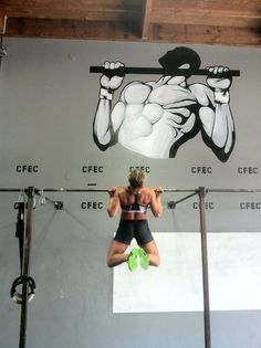 #crossfit  - My kipping pullups are coming together nicely! The movement finally clicked mentally and physicaly - woot!