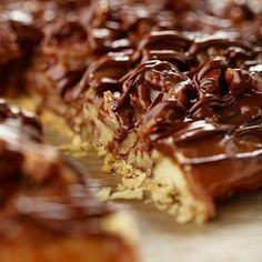 Short on time? Try these time-saving Thanksgiving recipes!: Upside-Down Chocolate Pecan Pie Pie Recipes, Dessert Recipes, Cooking Recipes, Dessert Ideas, Pecan Recipes, Pie Dessert, Eat Dessert First, Just Desserts, Delicious Desserts