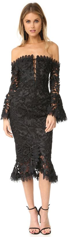 Nicholas Botanical Lace Cocktail Dress | #Chic Only #Glamour Always
