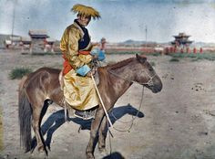 Badamdorj in vicinity of the Yellow Palace, Urga (1913)