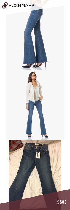 Le High Flare Frame Denim Frame Denim True to size 28 (women's 6) Brand new with tags Color Desc: Sunset Plaza  Feel free to ask me any questions regarding the item.   🚫NO TRADES🚫 Frame Denim Jeans Flare & Wide Leg