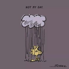 Not my day woodstock and snoopy from peanuts - radiserne dårlig dag kan hænde Snoopy Und Woodstock, Snoopy Love, Peanuts Cartoon, Peanuts Snoopy, Food Cartoon, Cartoon Man, Peanuts Comics, Charlie Brown Desenho, Welcome To My Life