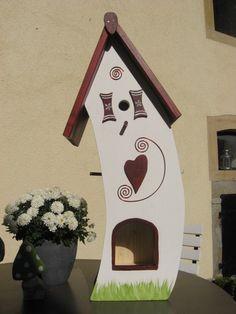 Gartendekoration - Vogelvilla Vogelhaus Nistkasten Futterstelle Garte - ein Designerstück von inse-10 bei DaWanda