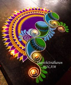 #paisley#mandala#kolam#rangoli#purple#green#yellow#round#circle