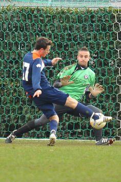 Ettore Braccalenti (Sansepolcro) ha sfiorato più volte il gol contro l'Arezzo