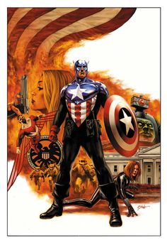 Captain America and The Falcon by Steve Epting