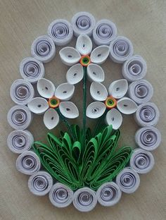 Dekorácie - Veľkonočné vajíčko - biely narcis - 6417656_ Paper Quilling Patterns, Origami And Quilling, Quilling Paper Craft, Quilling Designs, Paper Crafts, Paper Quilling For Beginners, Quilled Creations, Beautiful Love Pictures, Snowflakes