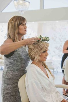 Getting Ready - Hair and Flower Crown