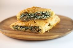 Jumbo Spinach and Mushroom Turnovers & 4 other vegetarian dishes for $10 each