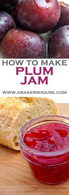 Plum Jam Recipe ~ Homemade plum jam is a summer treat to make then enjoy throughout the year. I've gotten back into canning mode around here and this plum jam recipe was a delicious way to preserve summer's fresh fruit. ** CLICK PIN TO LEARN MORE! Plum Jam Recipes, Jelly Recipes, Dessert Recipes, Drink Recipes, Sauce Pizza, Oxtail Recipes, Salsa Dulce, Jam And Jelly, Plum Jelly